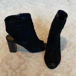 Charlotte Russe peep toe zip slingback bootie